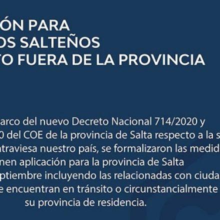 Que hacer y cuales son los requisitos para el ingreso a la provincia por parte de ciudadanos salteños