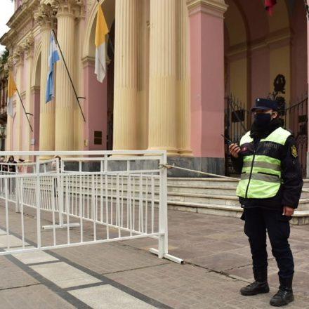 Con el fin de evitar aglomeraciones, se puso en marcha el operativo de seguridad por el Milagro