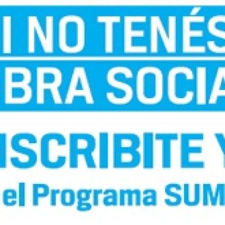 Personas sin Obra Social todavía pueden inscribirse en el Programa Sumar