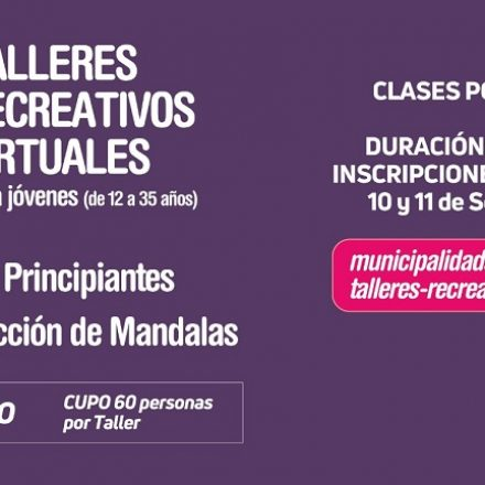 Capital: abren inscripciones para nuevos talleres recreativos virtuales gratuitos